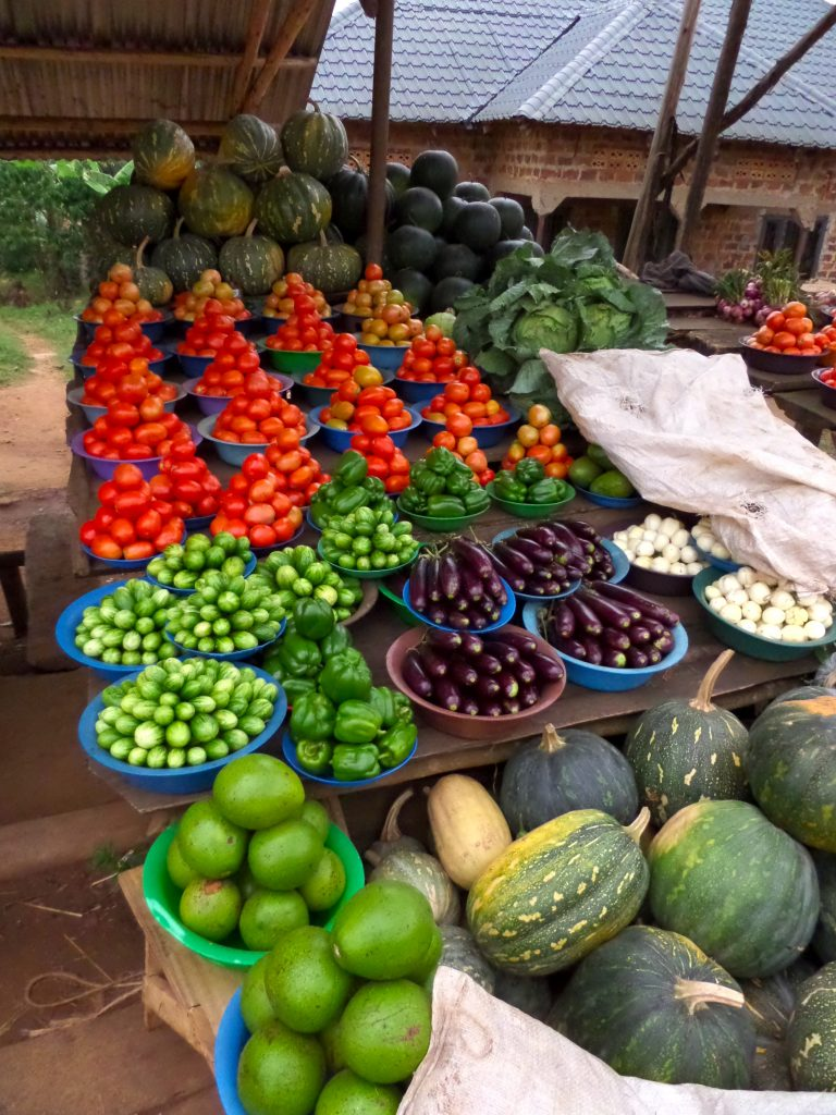 Market in Uganda.
