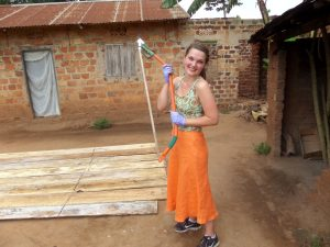 UW Madison student in Uganda.