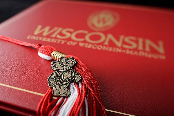 Diploma and tassle.